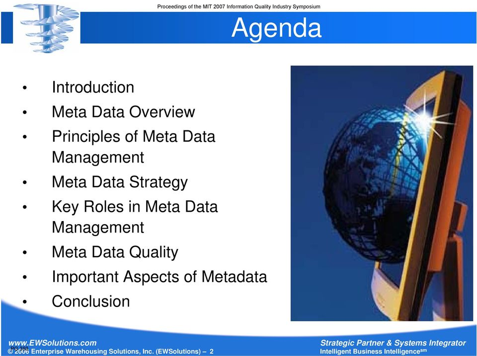 Management Meta Data Quality Important Aspects of Metadata