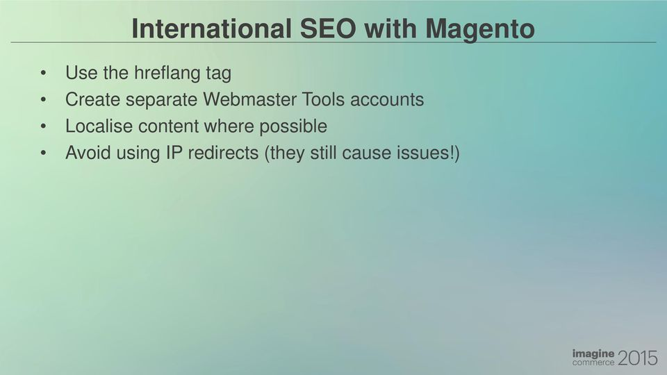 Tools accounts Localise content where