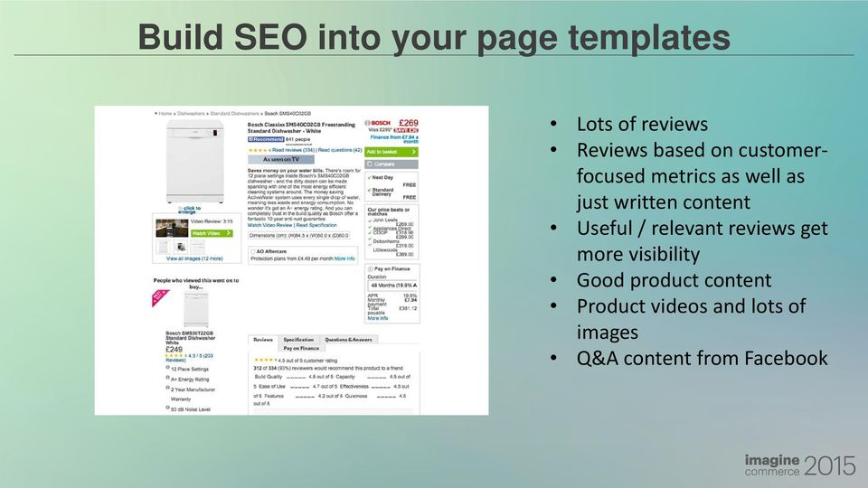 content Useful / relevant reviews get more visibility Good