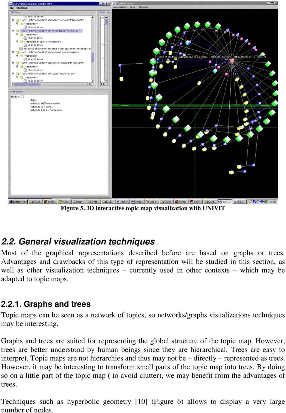 2.2.1. Graphs and trees Topic maps can be seen as a network of topics, so networks/graphs visualizations techniques may be interesting.