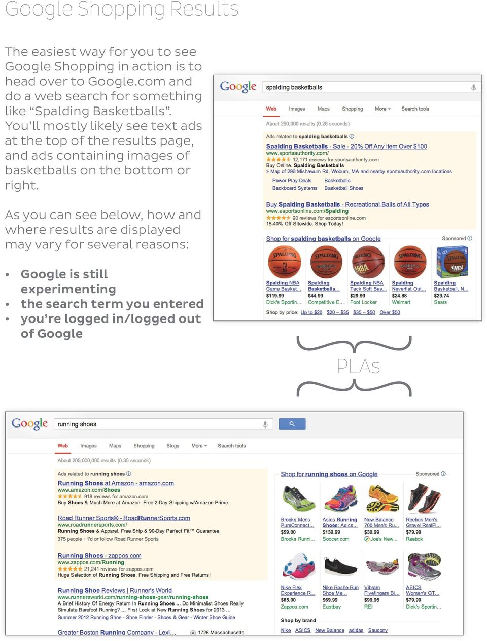 You ll mostly likely see text ads at the top of the results page, and ads containing images of basketballs on the bottom or