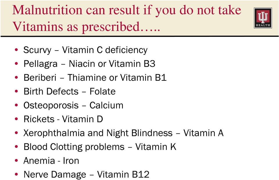 Vitamin B1 Birth Defects Folate Osteoporosis Calcium Rickets - Vitamin D