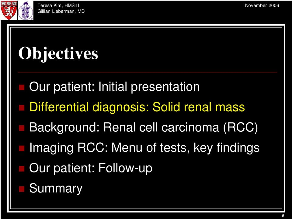 Background: Renal cell carcinoma (RCC) Imaging