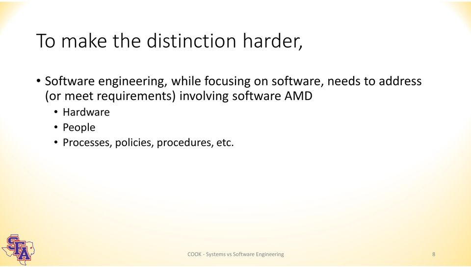 requirements) involving software AMD Hardware People