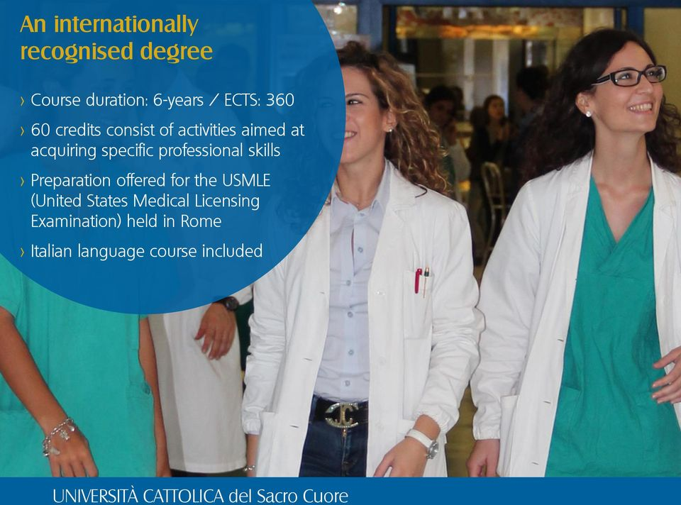 professional skills > Preparation offered for the USMLE (United States