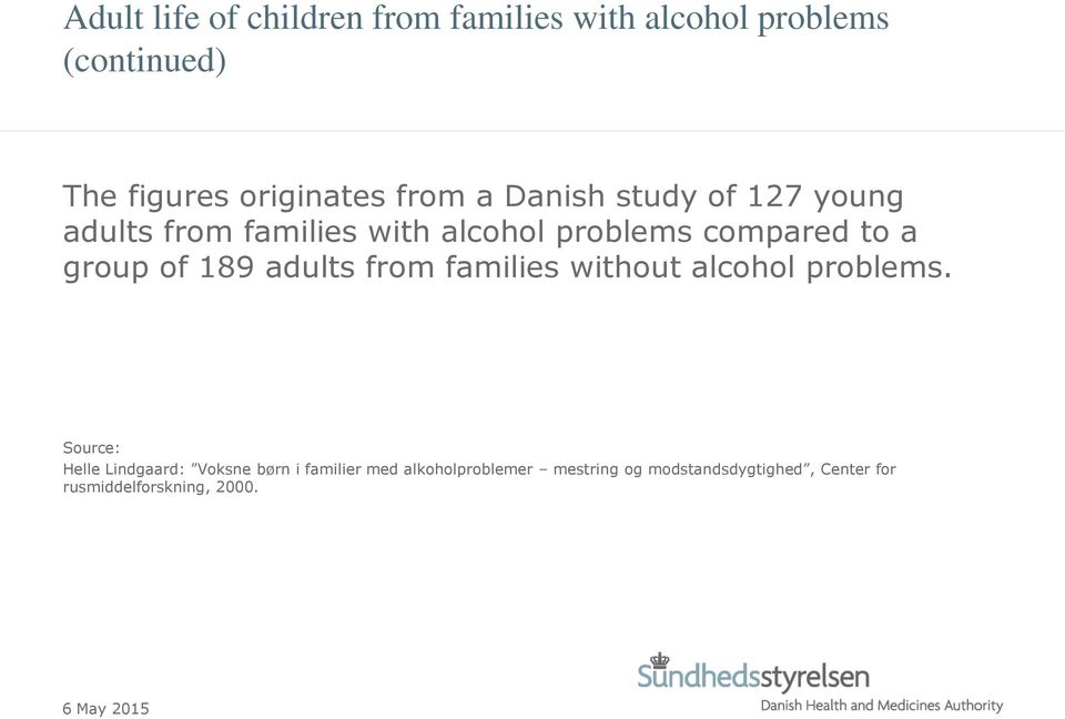 of 189 adults from families without alcohol problems.