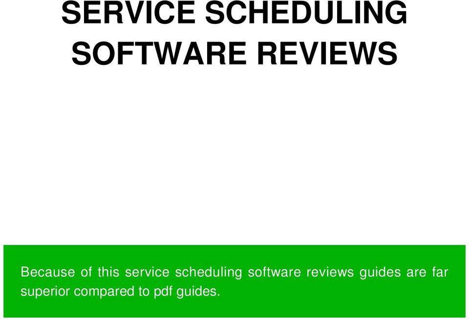 scheduling software reviews