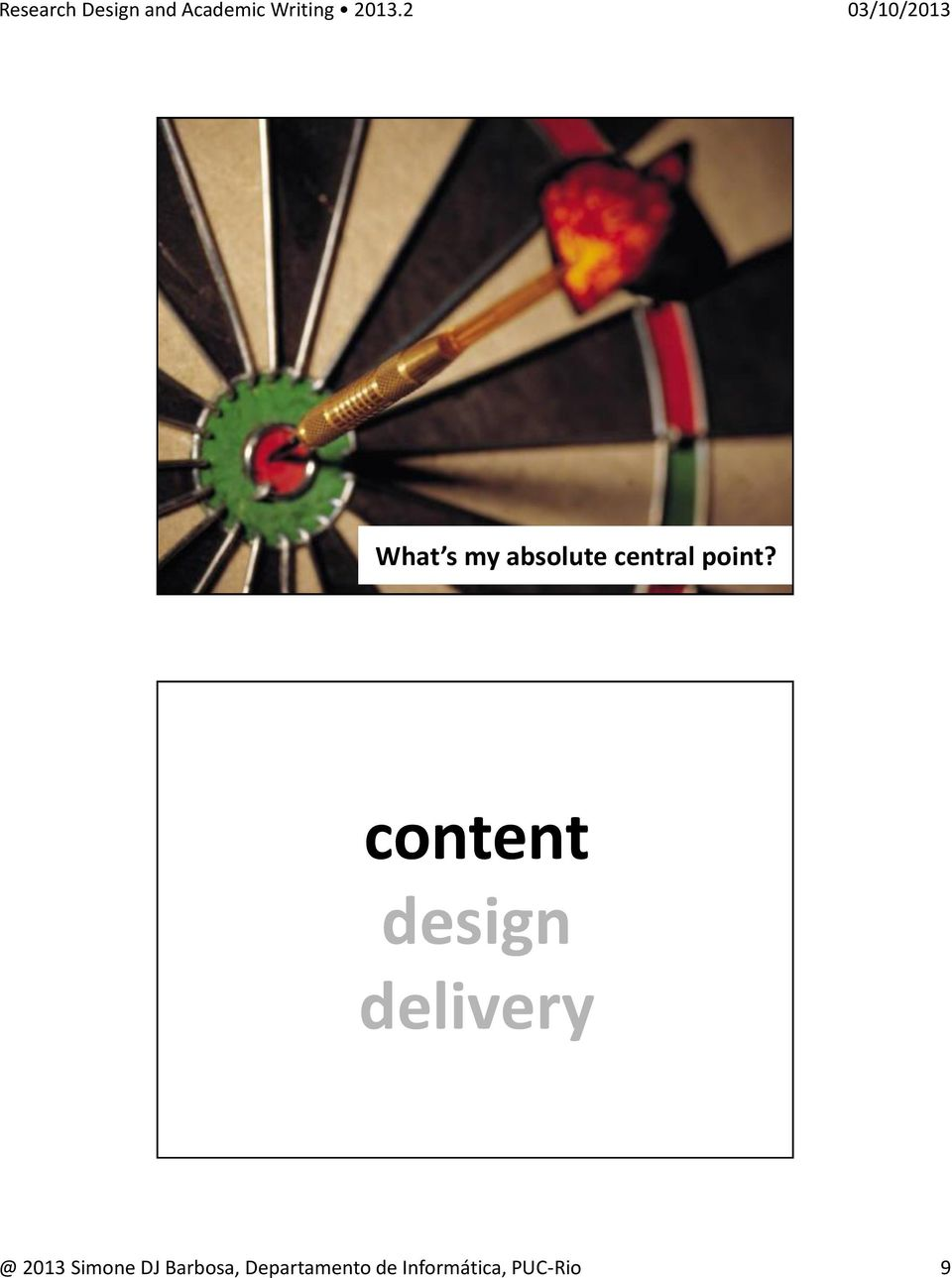 content design delivery @ 2013