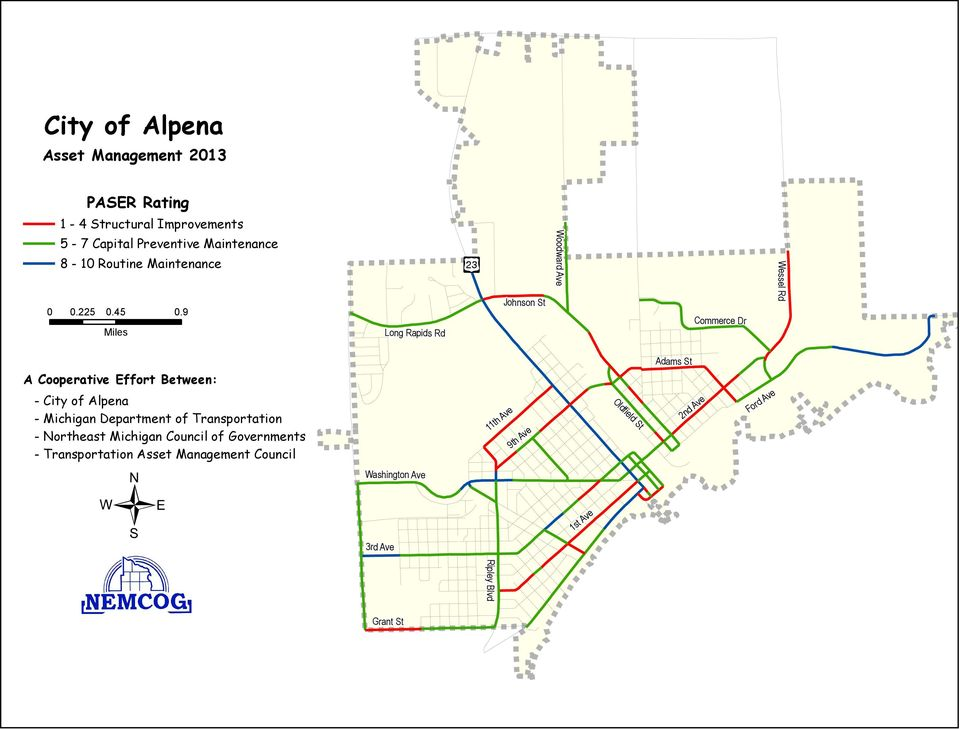 Johnson St Woodward Ave Commerce Dr Wessel Rd A Cooperative Effort Between: - City of Alpena - Michigan Department of