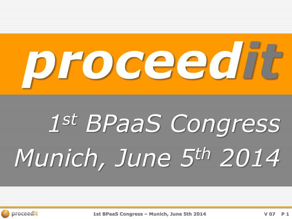th 2014 1st BPaaS th 2014