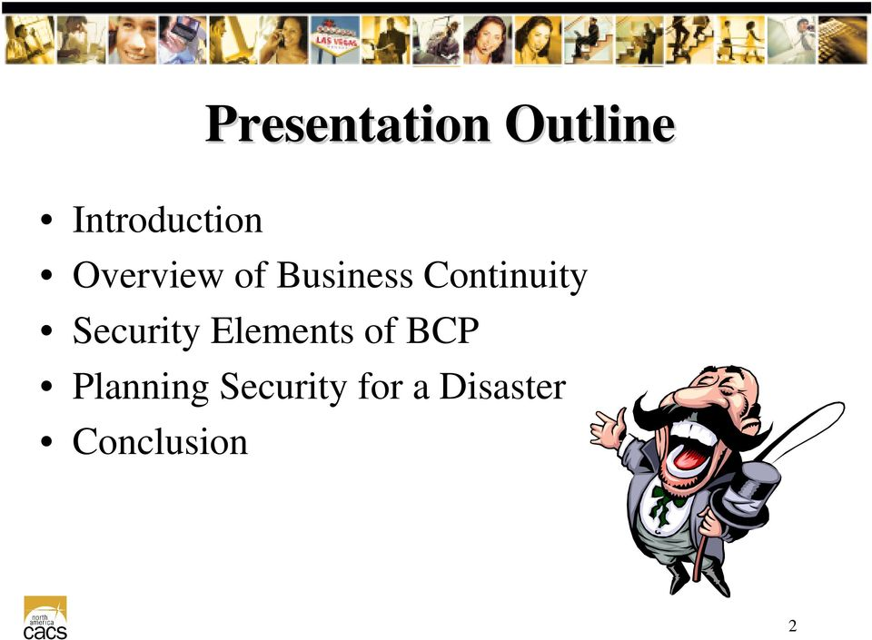 Security Elements of BCP Planning
