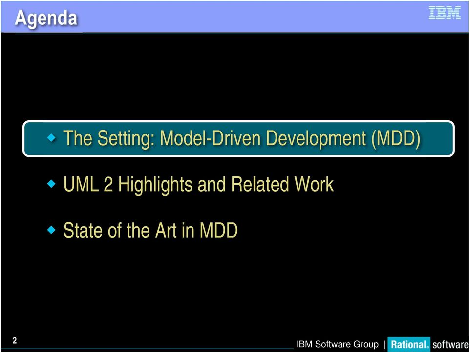 (MDD) UML 2 Highlights and