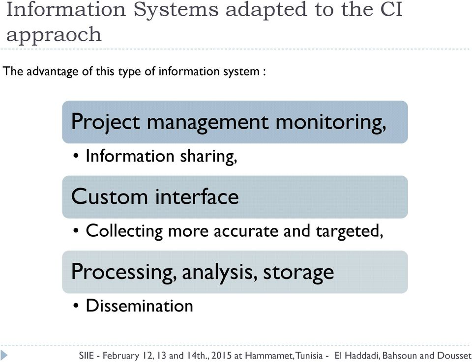 monitoring, Information sharing, Custom interface Collecting