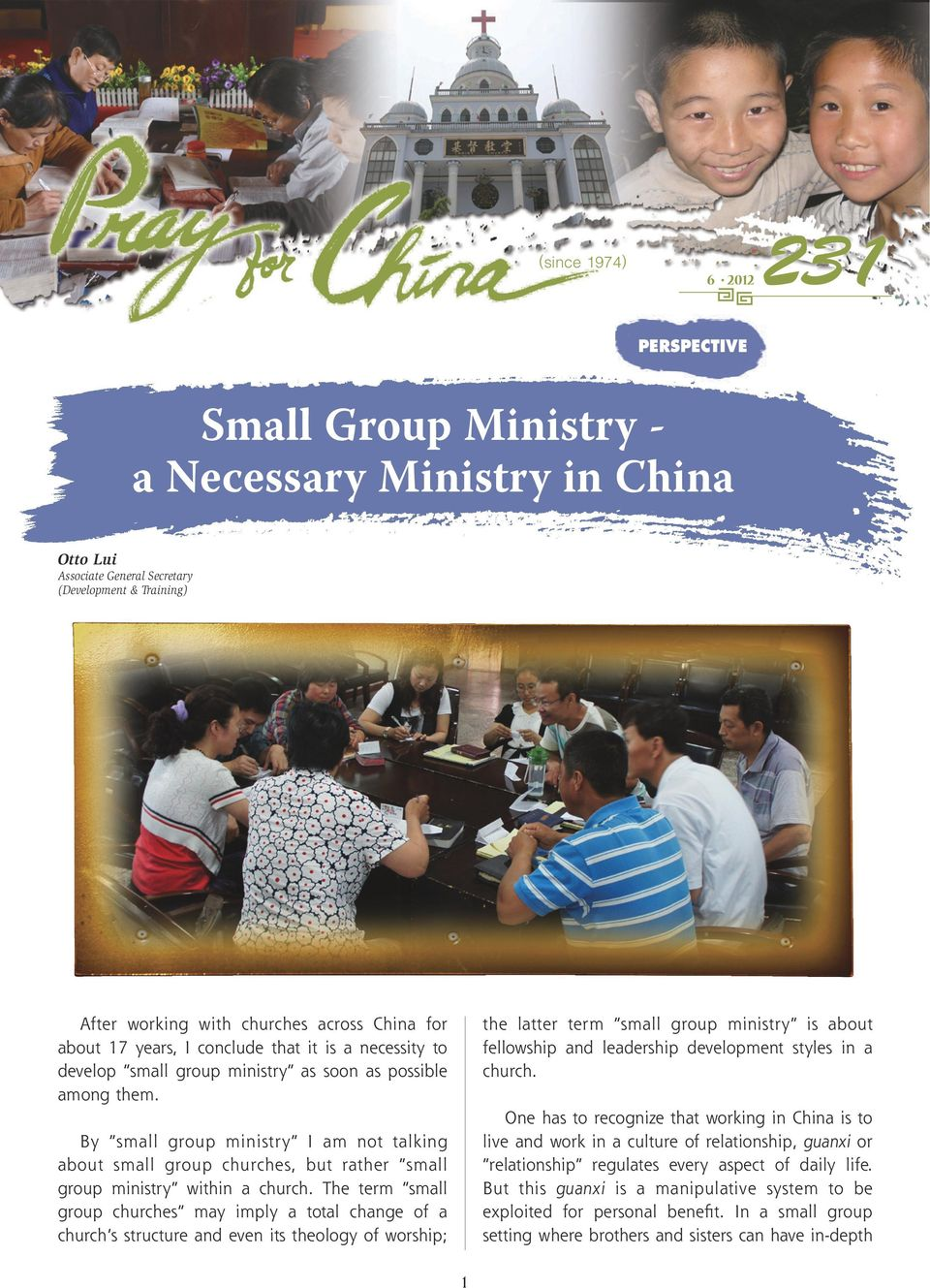 By small group ministry I am not talking about small group churches, but rather small group ministry within a church.