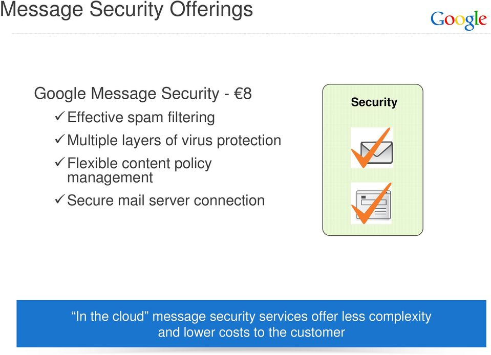 management Secure mail server connection Security In the cloud message