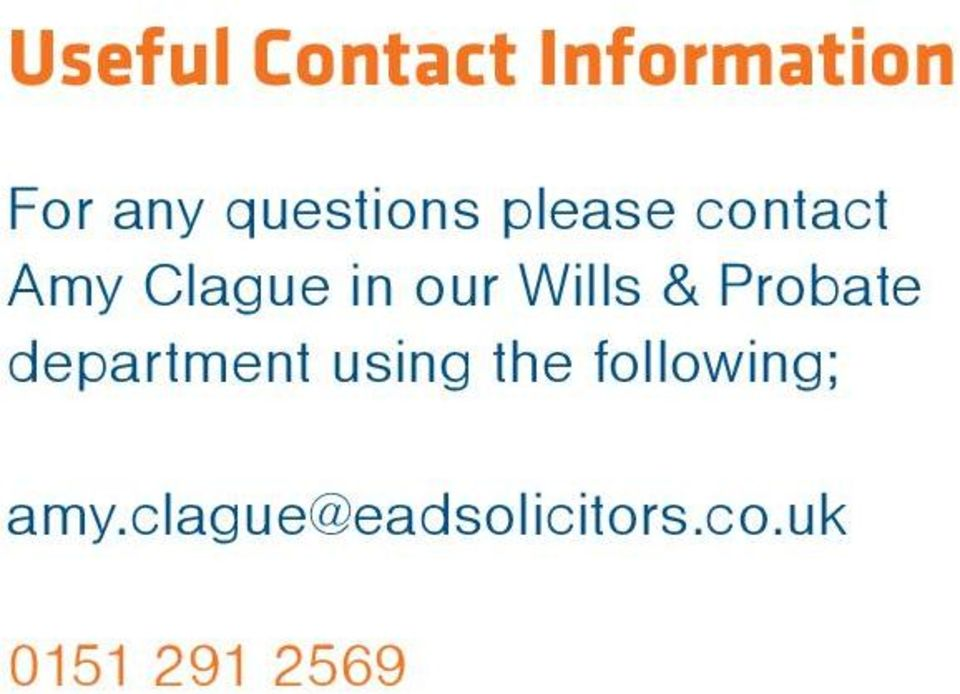 Wills & Probate department using the
