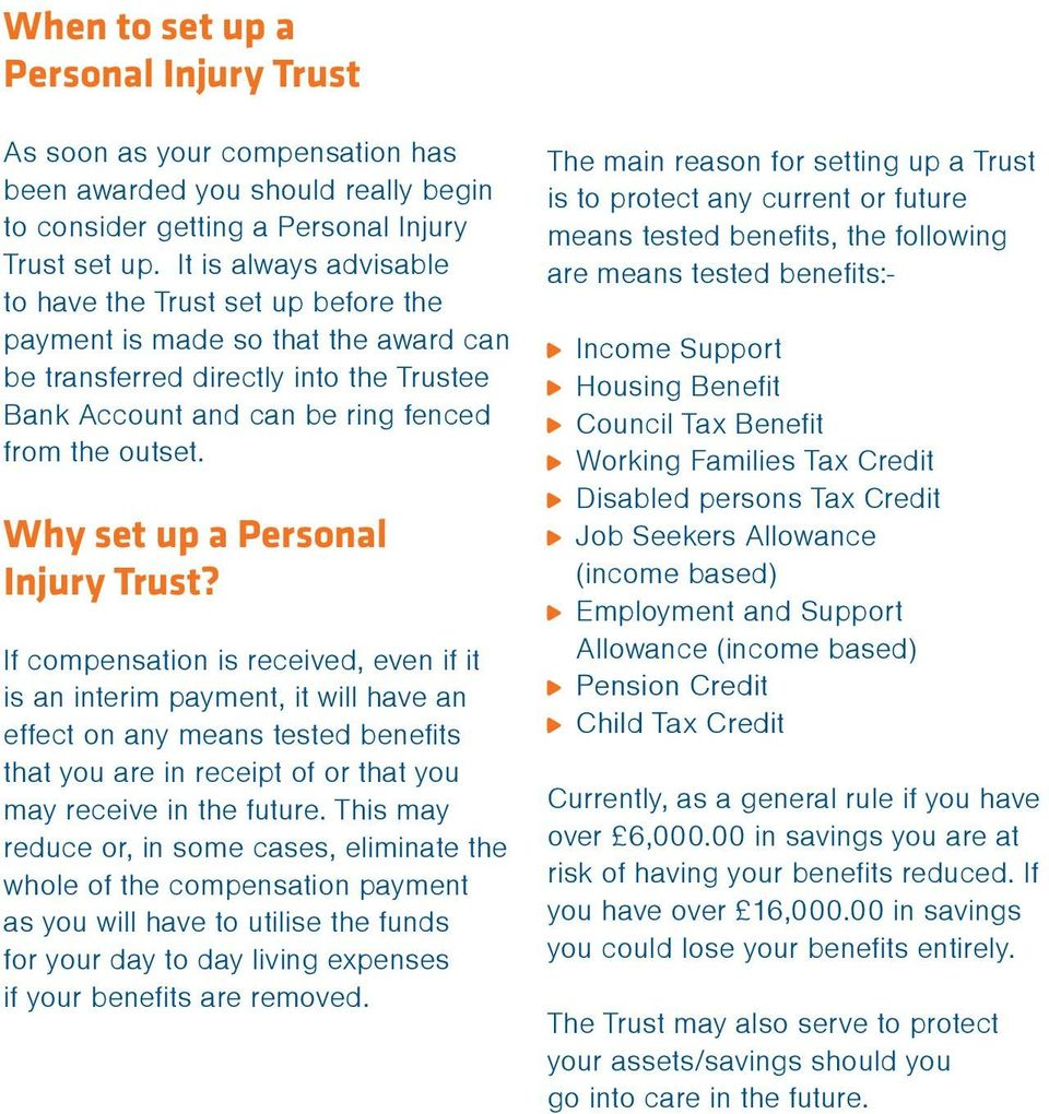 Why set up a Personal Injury Trust?