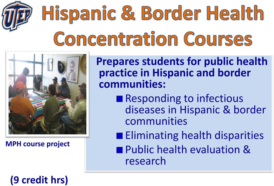 Responding to infectious diseases in Hispanic & border