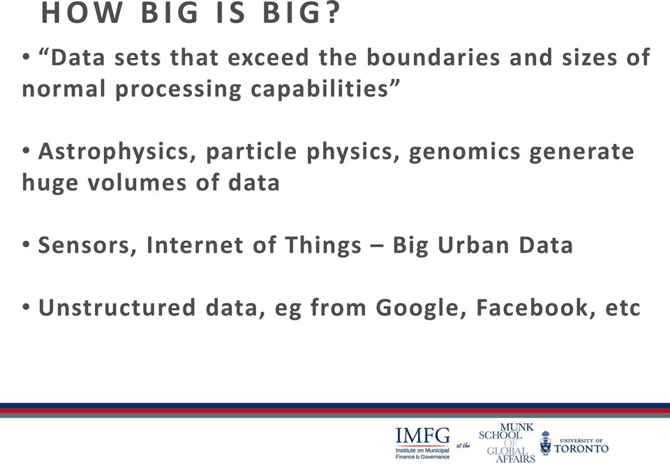 processing capabilities Astrophysics, particle physics, genomics