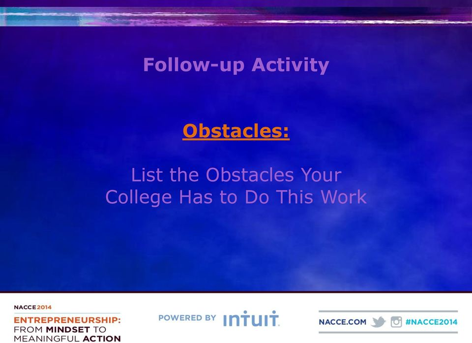 Obstacles Your
