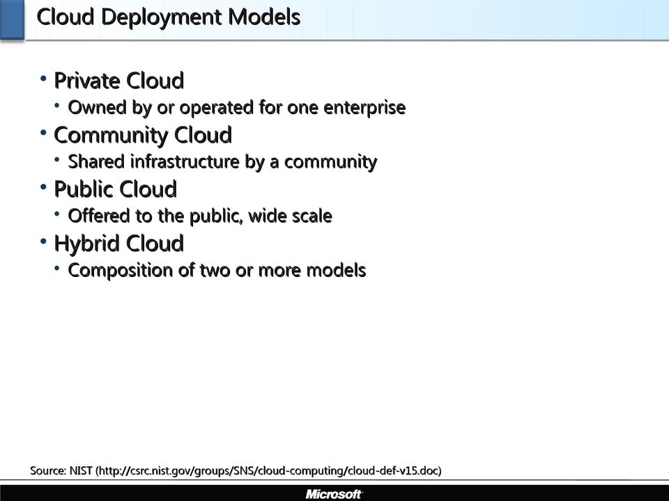 Offered to the public, wide scale Hybrid Cloud Composition of two or more