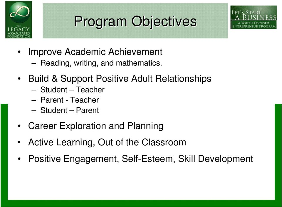 Build & Support Positive Adult Relationships Student Teacher Parent -