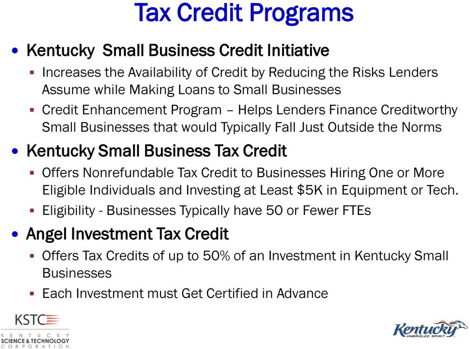 Credit Offers Nonrefundable Tax Credit to Businesses Hiring One or More Eligible Individuals and Investing at Least $5K in Equipment or Tech.