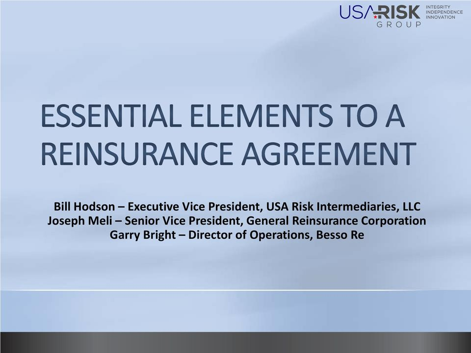 Vice President, General Reinsurance