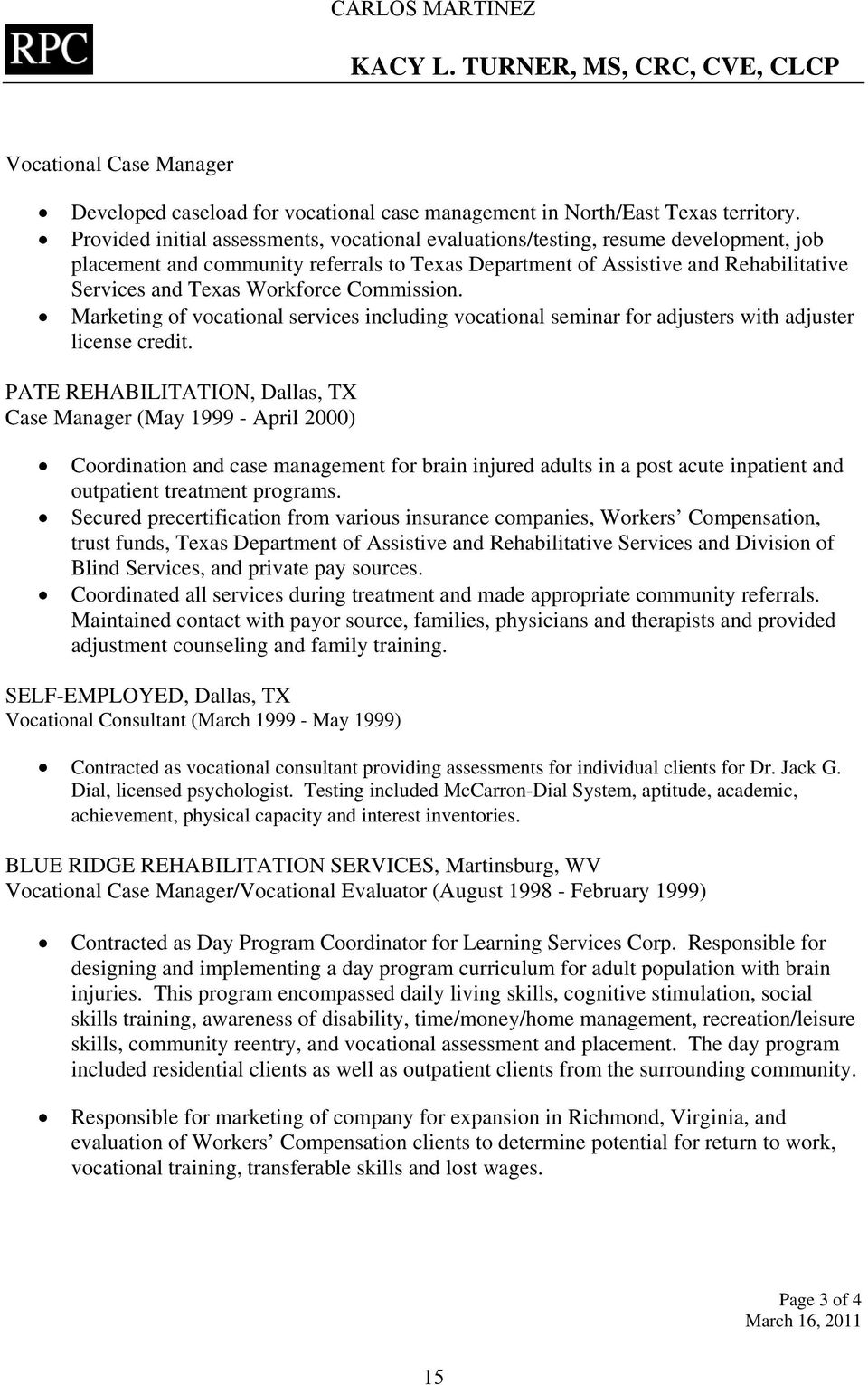 Workforce Commission. Marketing of vocational services including vocational seminar for adjusters with adjuster license credit.
