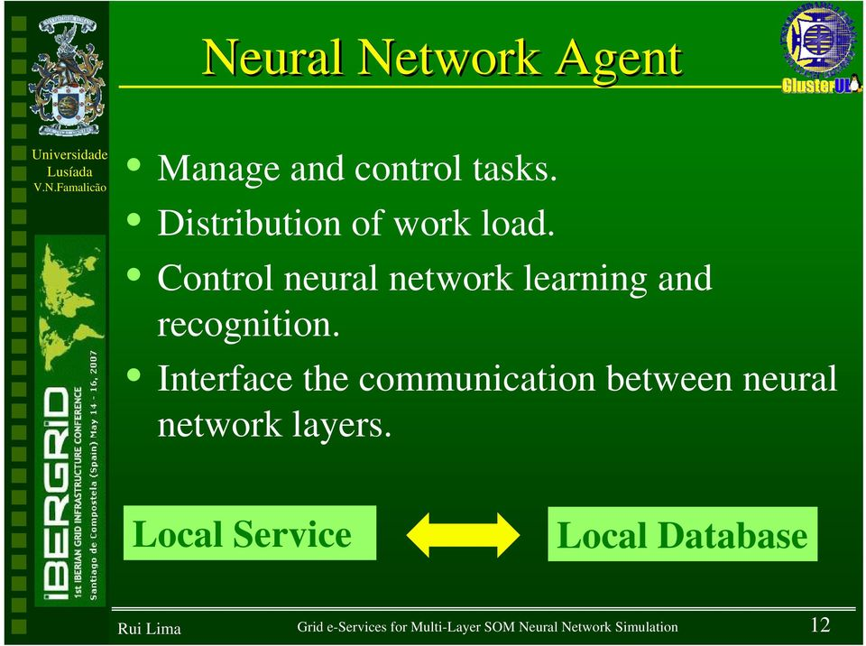 Control neural network learning and recognition.