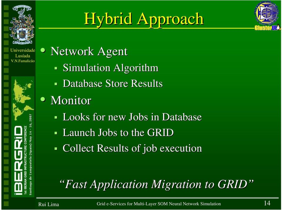 GRID Collect Results of job execution Fast Application Migration to