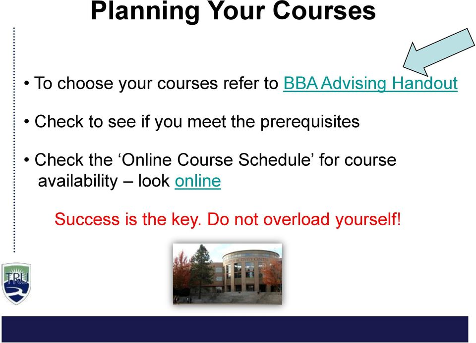 prerequisites Check the Online Course Schedule for course