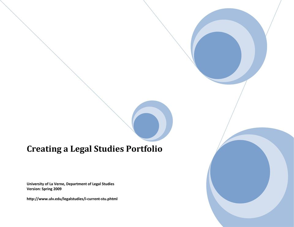 Legal Studies Version: Spring 2009
