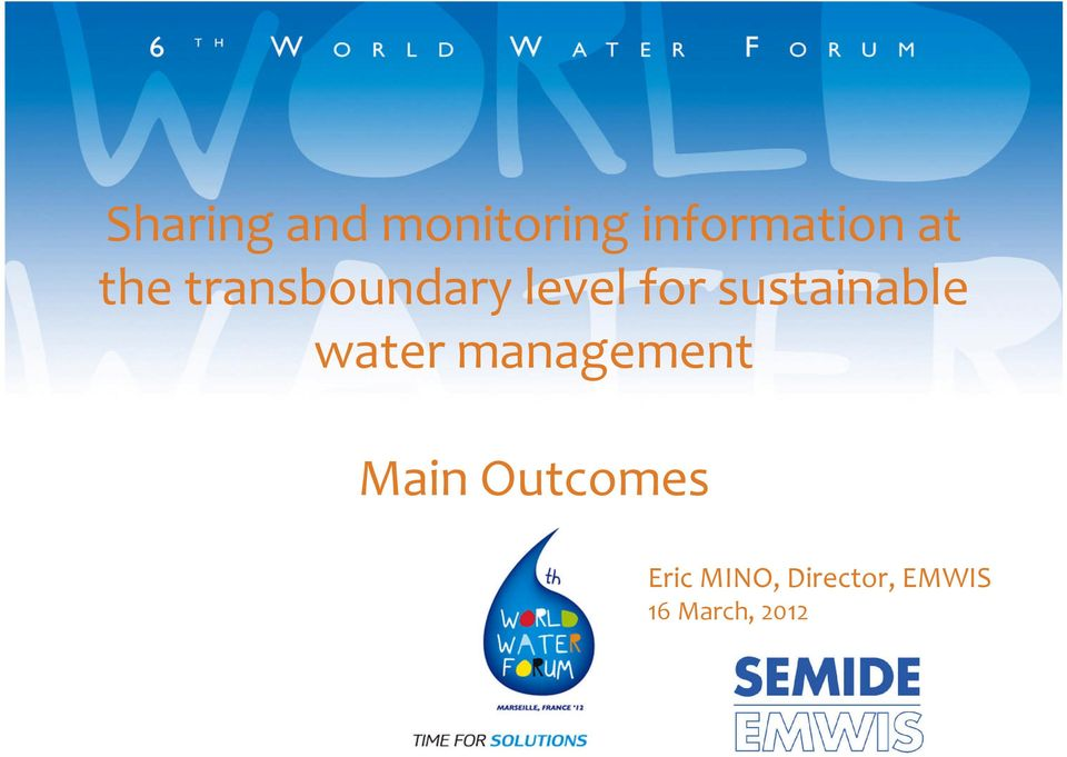 sustainable water management Main