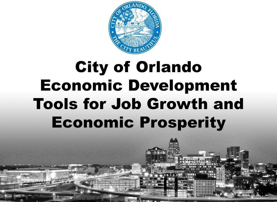 Tools for Job Growth