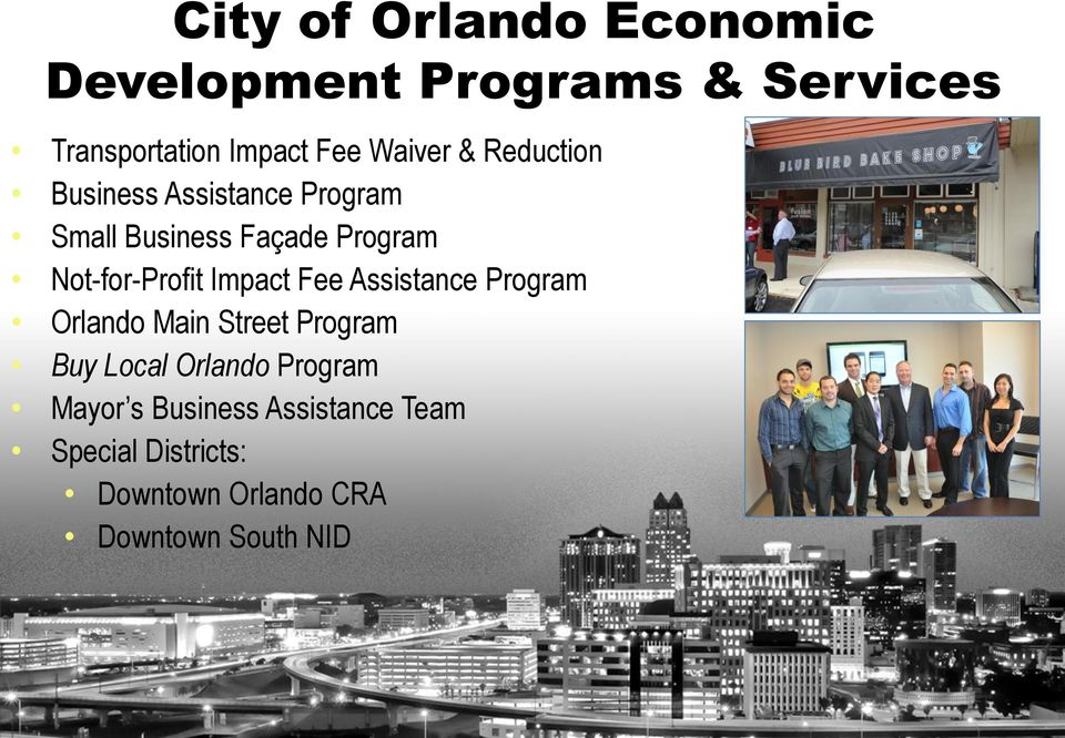 Not-for-Profit Impact Fee Assistance Program Orlando Main Street Program Buy Local