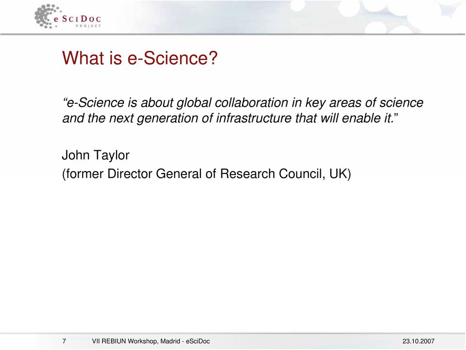 science and the next generation of infrastructure that will
