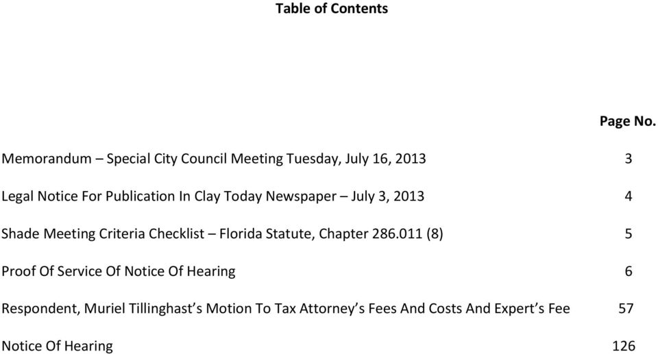 Clay Today Newspaper July 3, 2013 4 Shade Meeting Criteria Checklist Florida Statute, Chapter