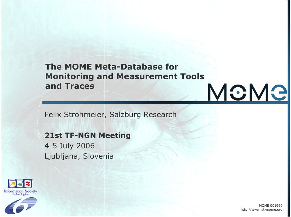 Salzburg Research 21st TF-NGN Meeting 4-5 July