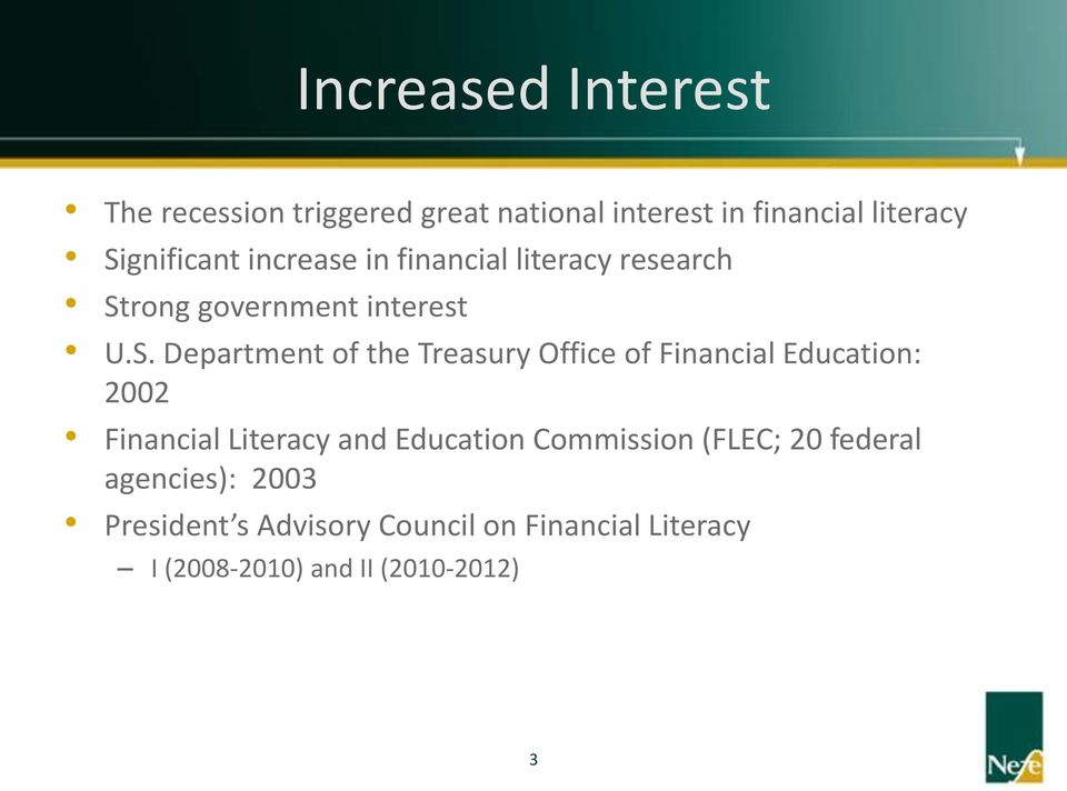 the Treasury Office of Financial Education: 2002 Financial Literacy and Education Commission (FLEC;