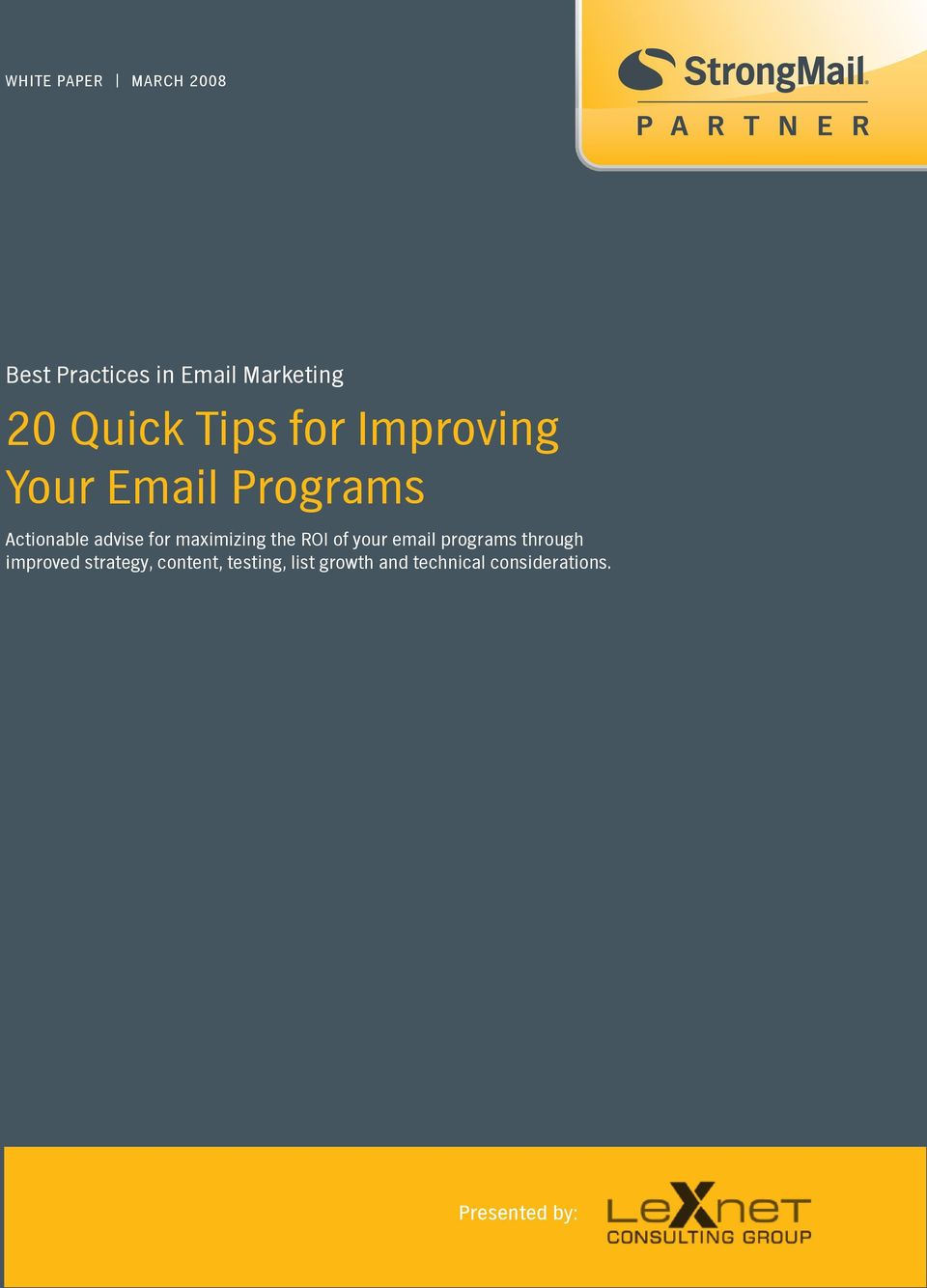 maximizing the ROI of your email programs through improved