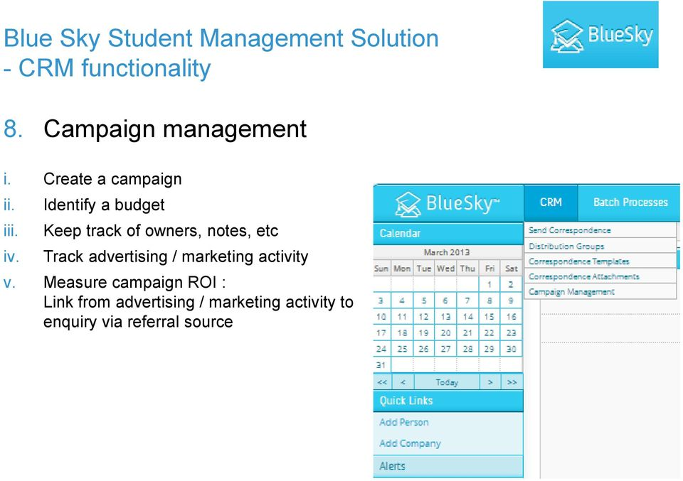 advertising / marketing activity v.