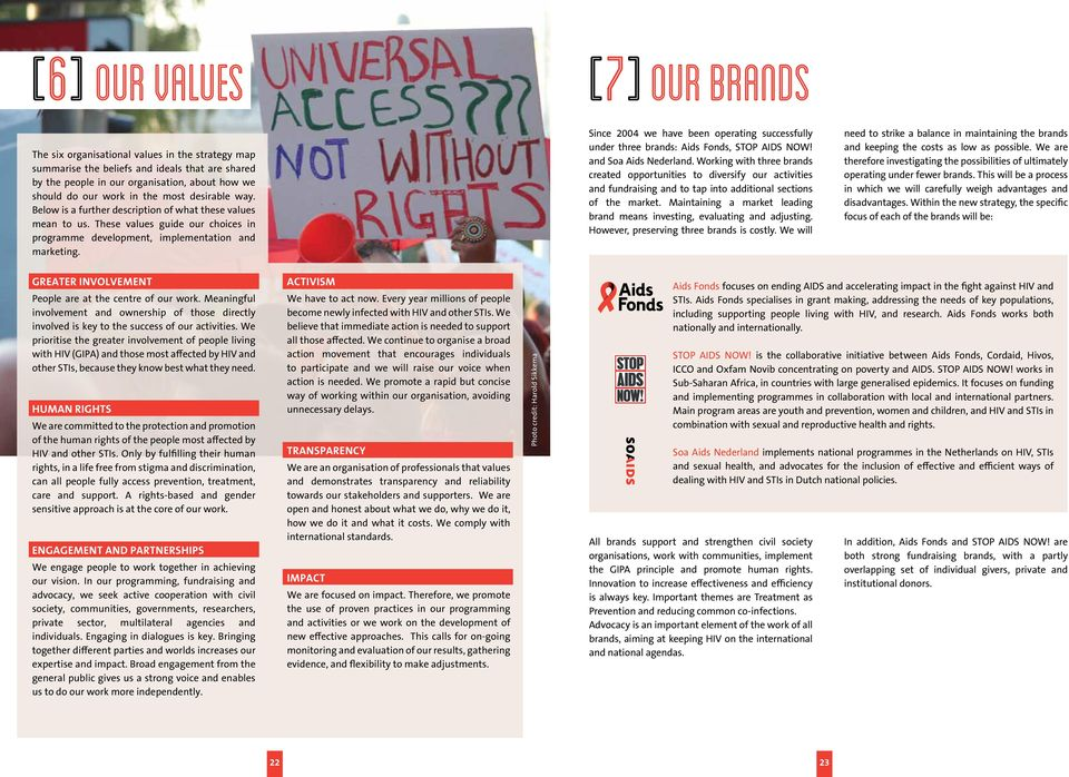 Since 24 we have been operating successfully under three brands: Aids Fonds, STOP AIDS NOW! and Soa Aids Nederland.