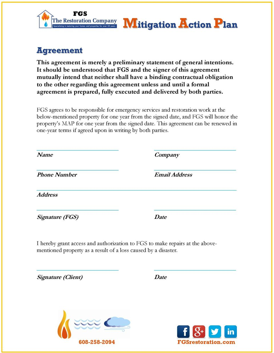 formal agreement is prepared, fully executed and delivered by both parties.