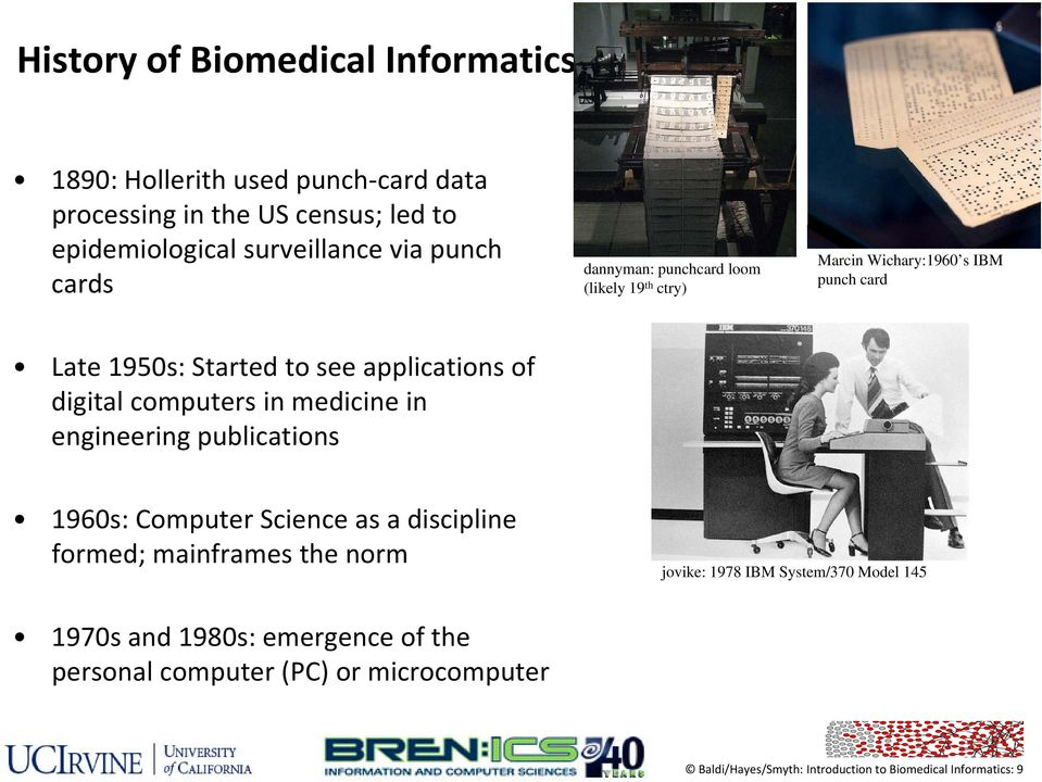 digital computers in medicine in engineering gpublications 1960s: Computer Science as a discipline formed; mainframes the norm jovike: 1978 IBM