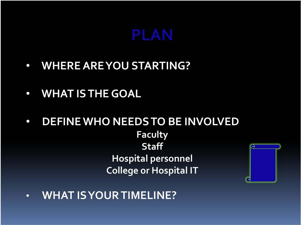 BE INVOLVED Faculty Staff Hospital