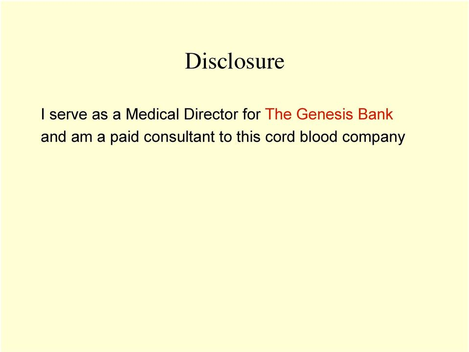 Genesis Bank and am a paid