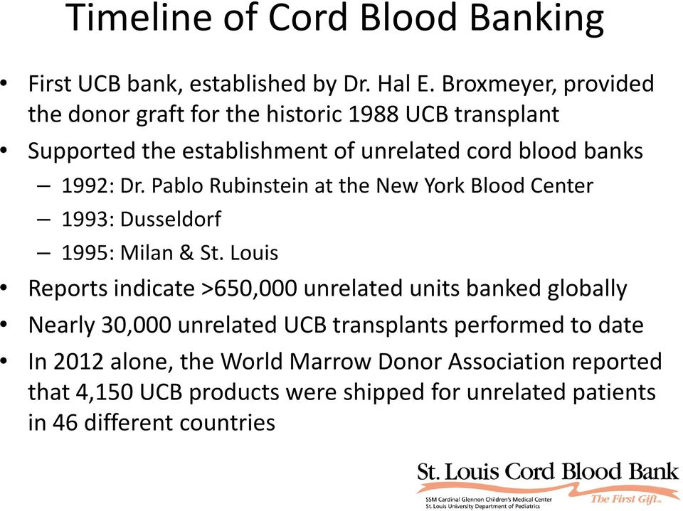 Pablo Rubinstein at the New York Blood Center 1993: Dusseldorf 1995: Milan & St.