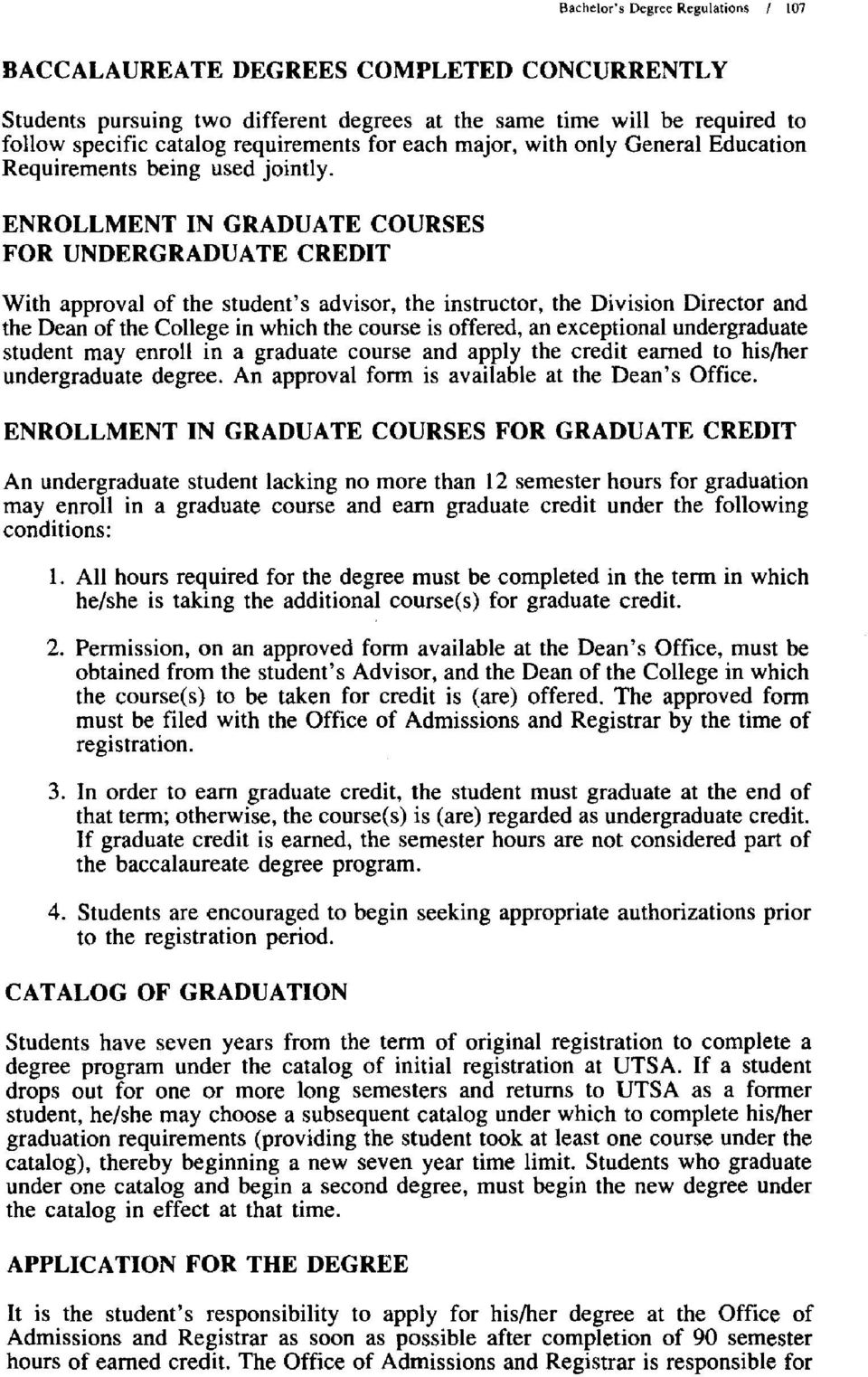 General Education Requirements being used joint!y.