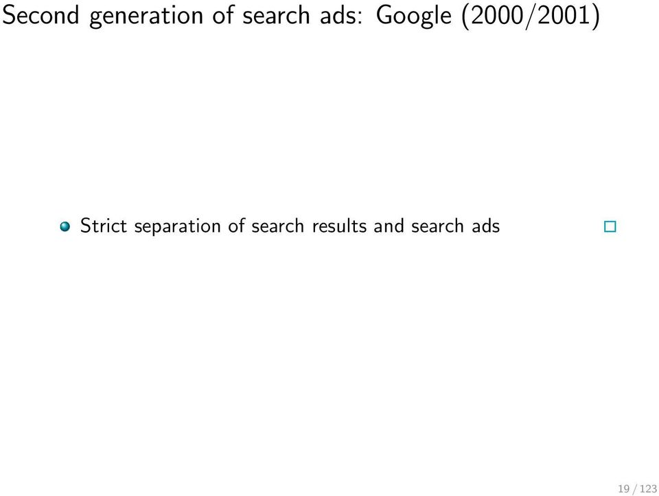 Strict separation of search